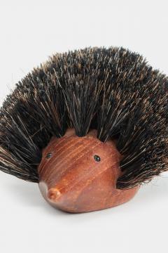 Johannesen teak hedgehog brush Denmark 60s - 1575737