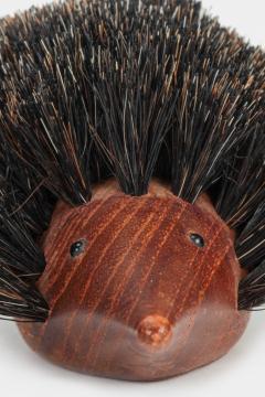 Johannesen teak hedgehog brush Denmark 60s - 1575739