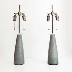 Johansfors Glasbruk PAIR OF JOHANSFORS GLASBRUK SPECKLED GLASS LAMPS SWEDEN - 1432007