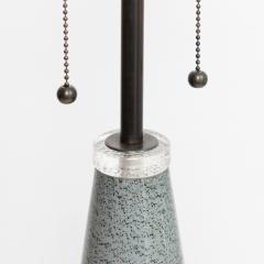 Johansfors Glasbruk PAIR OF JOHANSFORS GLASBRUK SPECKLED GLASS LAMPS SWEDEN - 1432008