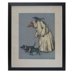 John Alexander Confused Man Walking His Dogs by John Alexander - 1958396