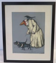 John Alexander Confused Man Walking His Dogs by John Alexander - 1958397