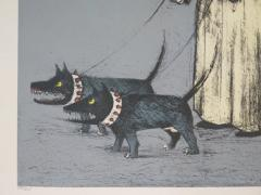 John Alexander Confused Man Walking His Dogs by John Alexander - 1958402