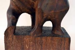 John Alfred Begg Hand Carved Walnut Sculpture of Dancers by John Begg - 1094772
