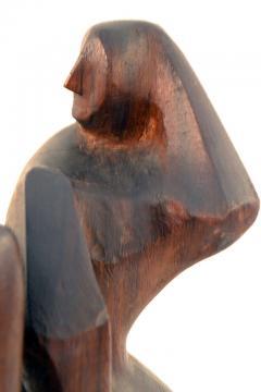 John Alfred Begg Hand Carved Walnut Sculpture of Dancers by John Begg - 1094775
