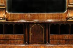 John Channon Important George II Brass Inlaid Padouk Bureau Bookcase - 277061