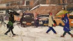 John Crimmins John Crimmins Painting Wintry Brooklyn  - 1255671