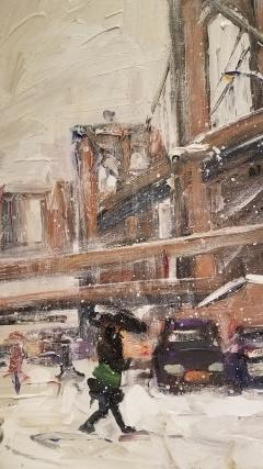 John Crimmins John Crimmins Painting Wintry Brooklyn  - 1255672