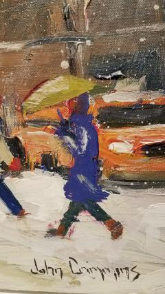 John Crimmins John Crimmins Painting Wintry Brooklyn  - 1255685
