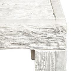 John Dickinson John Dickinson Pair of Rare End Tables with Wood Motif 1970s Signed  - 2127215