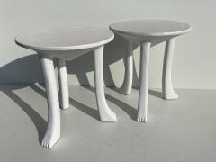 John Dickinson Pair Plaster African Tables - 1275696