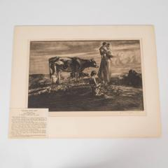 John Edward Costigan John Costigan Signed Original Pastoral Etching by John E Costigan Circa 1930 - 1700555