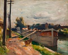 John Fulton Folinsbee Lehigh Barge - 141823
