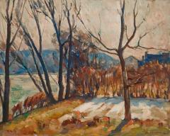 John Fulton Folinsbee Trees Along the River - 141826