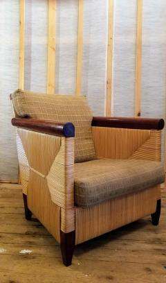 John Hutton Lounge Chair by John Hutton Donghia 1995 Mahogany and Cane - 2067604