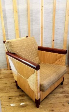 John Hutton Lounge Chair by John Hutton Donghia 1995 Mahogany and Cane - 2067606