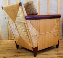 John Hutton Lounge Chair by John Hutton Donghia 1995 Mahogany and Cane - 2067607