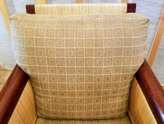 John Hutton Lounge Chair by John Hutton Donghia 1995 Mahogany and Cane - 2067608