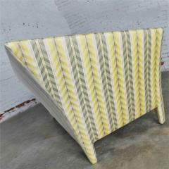 John Hutton Vintage donghia yellow stripe spirit chaise longue by john hutton - 1900273