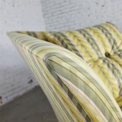 John Hutton Vintage donghia yellow stripe spirit chaise longue by john hutton - 1900305