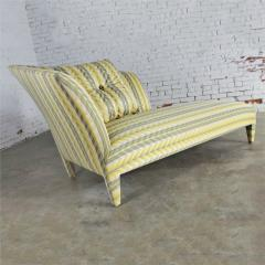 John Hutton Vintage donghia yellow stripe spirit chaise longue by john hutton - 1900310