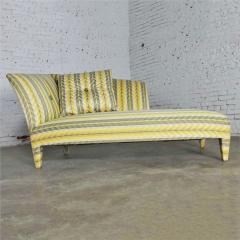 John Hutton Vintage donghia yellow stripe spirit chaise longue by john hutton - 1900313