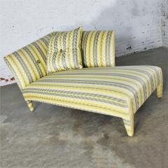 John Hutton Vintage donghia yellow stripe spirit chaise longue by john hutton - 1900315