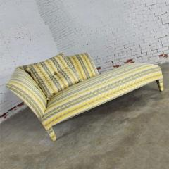 John Hutton Vintage donghia yellow stripe spirit chaise longue by john hutton - 1900319
