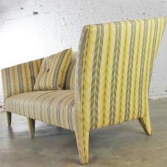 John Hutton Vintage donghia yellow stripe spirit sofa by john hutton - 1900303