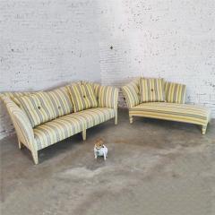 John Hutton Vintage donghia yellow stripe spirit sofa by john hutton - 1900314