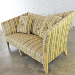 John Hutton Vintage donghia yellow stripe spirit sofa by john hutton - 1900317
