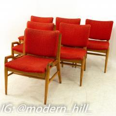 John Keal for Brown Saltman Mid Century Mahogany Dining Chairs Set of 6 - 1869709