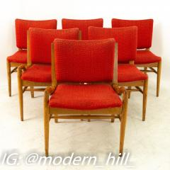 John Keal for Brown Saltman Mid Century Mahogany Dining Chairs Set of 6 - 1869711