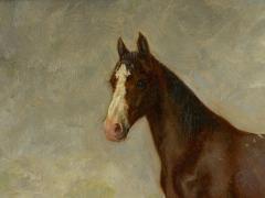 John Lewis Shonborn John Lewis Shonborn American 1852 1931 Equestrian Thoroughbred Oil Painting - 1066344