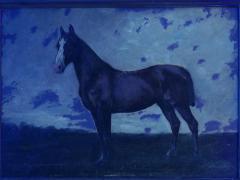 John Lewis Shonborn John Lewis Shonborn American 1852 1931 Equestrian Thoroughbred Oil Painting - 1066346