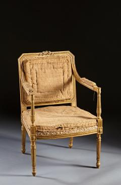 John Linnell A Pair of 18th Century English Giltwood Armchairs - 588951