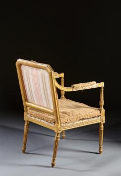 John Linnell A Pair of 18th Century English Giltwood Armchairs - 588953