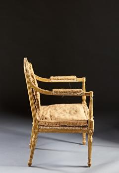 John Linnell A Pair of 18th Century English Giltwood Armchairs - 588954