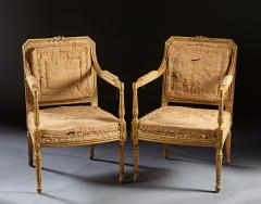 John Linnell A Pair of 18th Century English Giltwood Armchairs - 588956