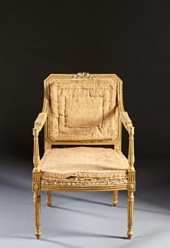 John Linnell A Pair of 18th Century English Giltwood Armchairs - 588958