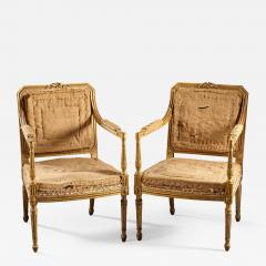 John Linnell A Pair of 18th Century English Giltwood Armchairs - 591498