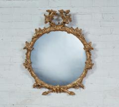John Linnell Georgian Round Giltwood Mirror - 1915064