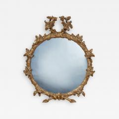 John Linnell Georgian Round Giltwood Mirror - 1919915