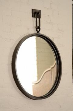 John McDevitt A 24 Patinated Steel Circular Pendant Mirror - 271398