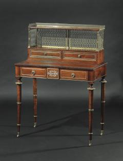 John McLean A Regency Rosewood and Brass Inlaid Writing Desk - 880290