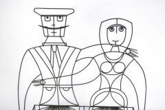 John Risley 1960s John Risley Monsieur Mademoiselle Patio Bench Sculpture - 1484212