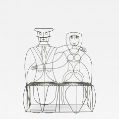 John Risley 1960s John Risley Monsieur Mademoiselle Patio Bench Sculpture - 1486192