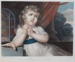 John Russel FOUR 19TH CENTURY STIPPLE ENGRAVINGS IN GILT FRAMES - 697265