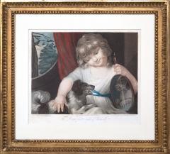 John Russel FOUR 19TH CENTURY STIPPLE ENGRAVINGS IN GILT FRAMES - 697267