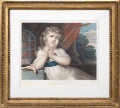 John Russel FOUR 19TH CENTURY STIPPLE ENGRAVINGS IN GILT FRAMES - 697268